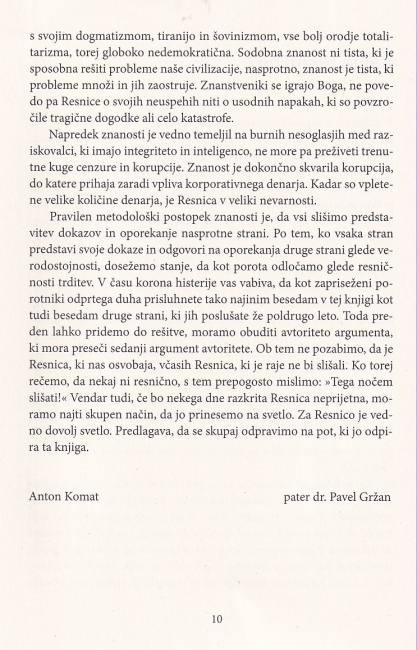 Dobra knjiga - Resnica vas bo osbovobodila - korona - represija - predgovor 2 pater Karel Gržan